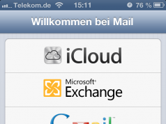 Übersicht E-Mail Anbieter iPhone