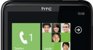 HTC HD7 stehend schwarz