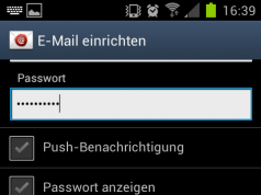 Android E-Mail Account einstellen