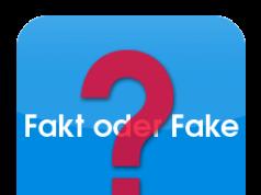 Gerüchte Fake Logo