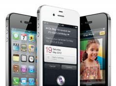 iPhone 4 stehend