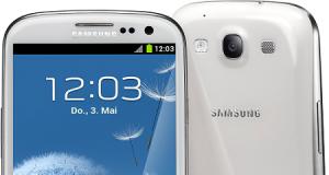 Galaxy S3 LTE weiß stehend