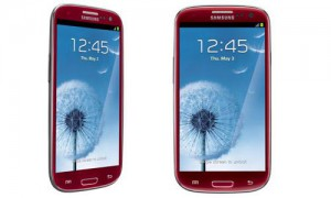 Samsung Galaxy S3 in Rot