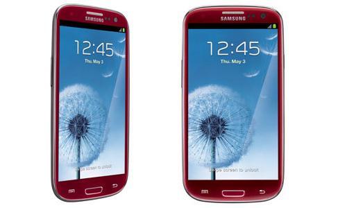 Samsung Galaxy S3 in Rot