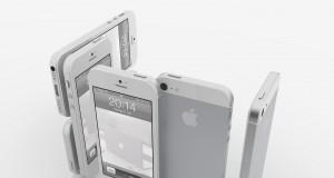 iPhone 5 weiß stehend