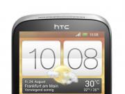 HTC Desire X silber stehend
