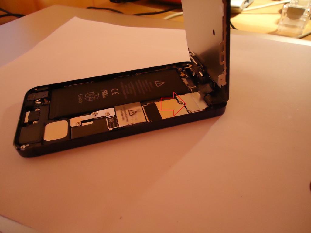 iPhone 5 geöffnet