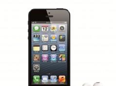 iPhone 5 schwarz stehend