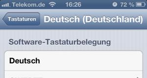 iPhone 5 Tastatur Umlaute entfernen