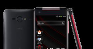 HTC J Butterfly stehend in schwarz