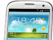 Samsung Galaxy S3 in weiß stehend