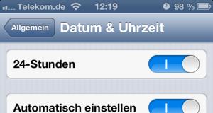 iPhone Zeitumstellung automatisch