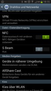 NFC aktivieren