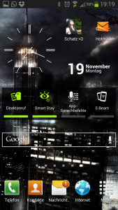 Homescreen Galaxy S3