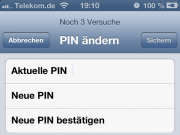 PIN eingeben iPhone 5