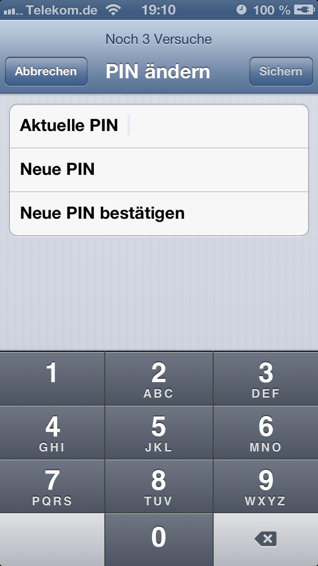 pin ändern iphone 7