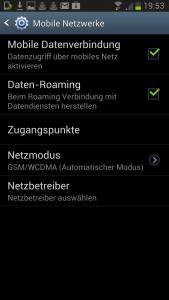 Galaxy S3 LTE Einstellungen