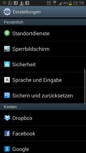 Swype Einstellungen Galaxy S3