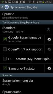Swype Tastaturen Galaxy S3
