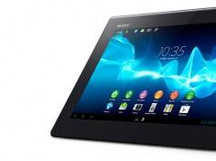 Xperia S Tablet schwarz stehend