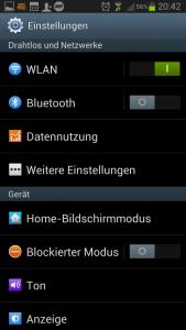 Datenvolumen Einstellungen Android