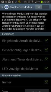 Blockierter Modus Android