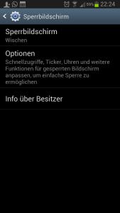 Schnellzugriff Sperrbildschirm Galaxy S3
