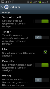 Schnellzugriffe Android