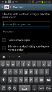 E-Mail Account Galaxy S3 einrichten