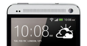 HTC One silber Front