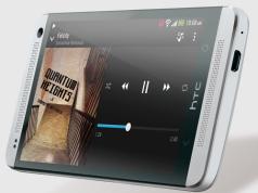 HTC One Silber seitlich