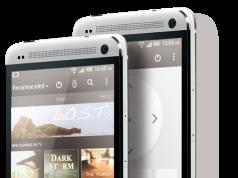 HTC One von vorne silber