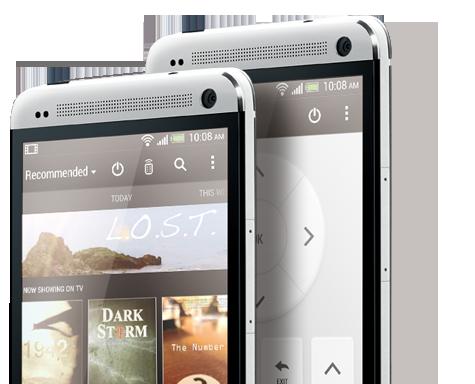 HTC One Vorderseite in Silber von vorne zwei