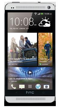 HTC One Vorderseite in Silber
