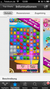 Lösung App Candy Crush Saga Solution