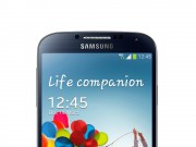 Galaxy S4 in Schwarz stehend