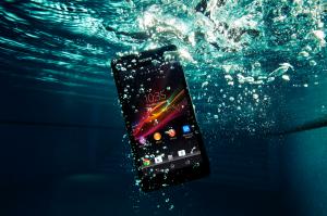 Xperia ZR unter Wasser