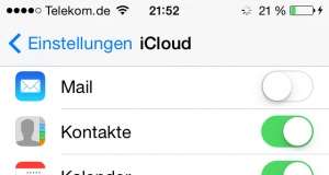 iCloud beim iPhone