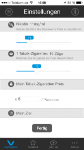 myVapors App Bluetooth