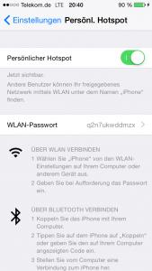 Persönlicher Hotspot iPhone 6