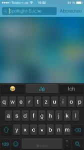 Spotlight Suche beim iPhone