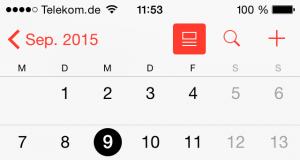 iPhone Kalender