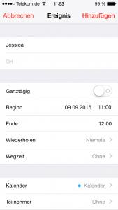 iPhone Kalender Geburtstage