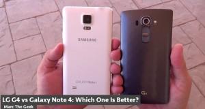 Vergleich: Galaxy Note 4 gegen LG G4