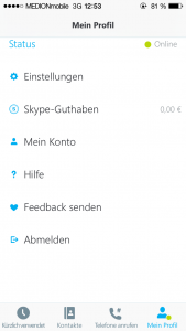 Skype Profil
