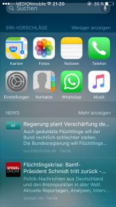 iOS 9 Suchfunktion