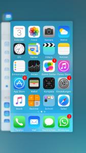 Übersicht iPhone Taskmanager