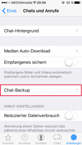 WhatsApp Chat-Backup