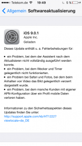 iOS 9 Update Übersicht