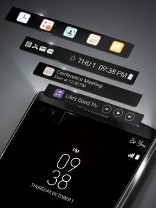LG V10 Zweiter Bildschirm